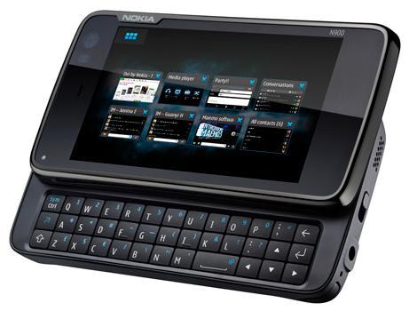Nokia N900 näppäimistö auki